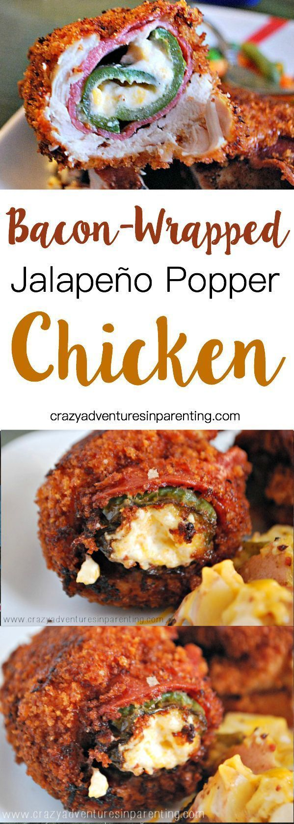 Bacon-Wrapped Jalapeno Popper Chicken
