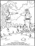 Click to go to free coloring page of Cronus and Rhea (Saturn and Cybele)