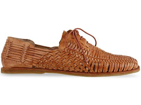 Woven leather summer shoes