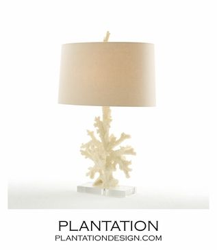 Inspirational White Coral Table Lamp