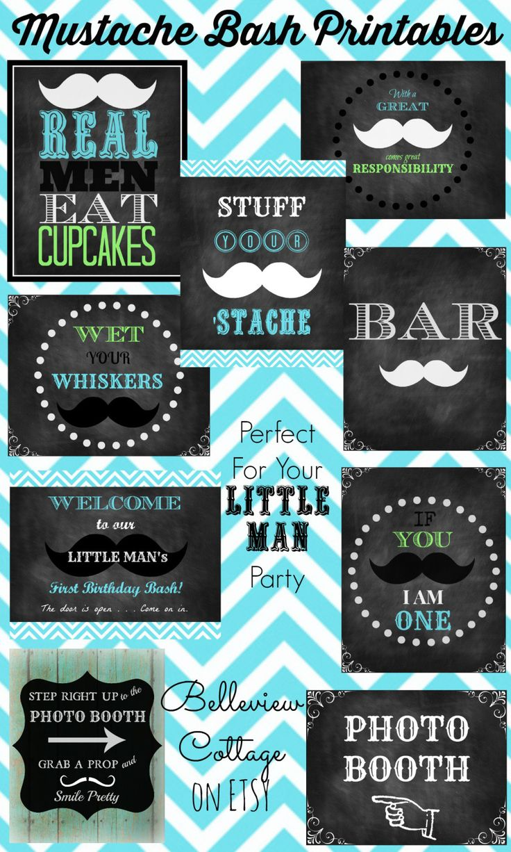 Check out these cute mustache printables! Belleview Cottage on Etsy