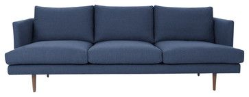 Blue Mid-Century Modern Sofa | Carl Mid-Century Modern Furniture contemporary-sofas