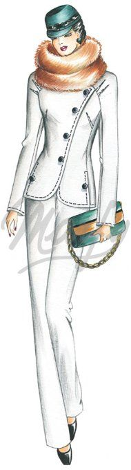 Our Patterns :: Marfy Collection 2010/2011 :: Autumn - Winter :: Sewing pattern 2271 -