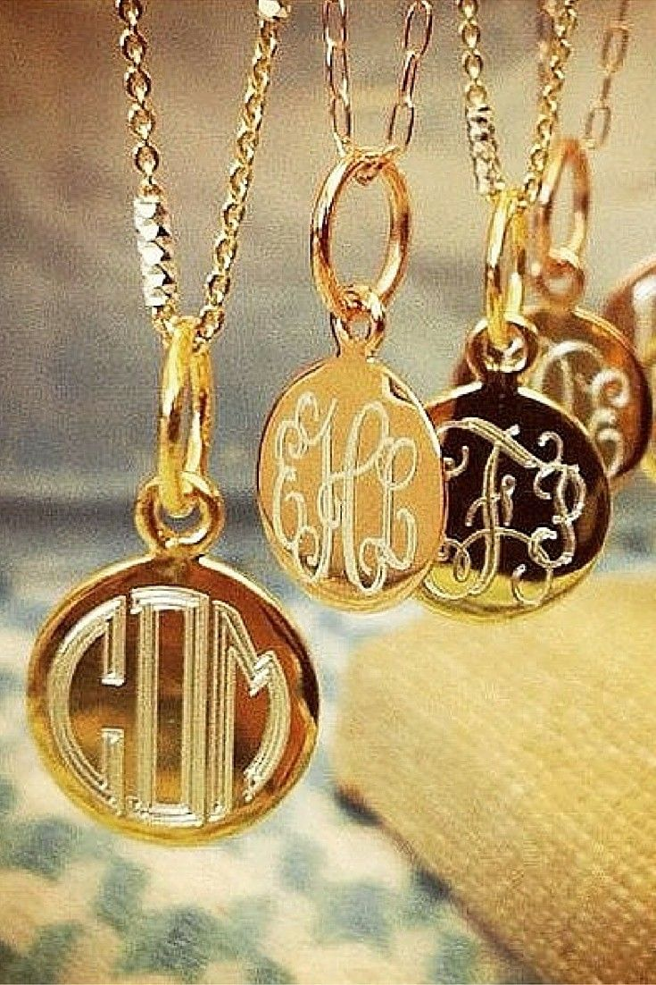 Sweet and sparkly, our flutter monogram necklaces will make your heart go pitter patter.  Gorgeous engraving in gold vermeil, rose gold and sterling silver.