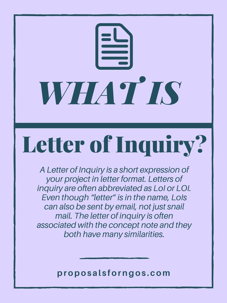 What is a Letter of Inquiry? Proposal for NGOs