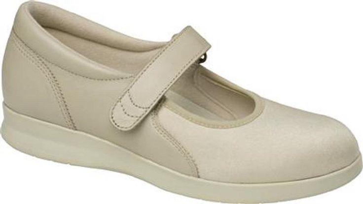 $155 Drew Shoes BLOOM II Womens Mary Janes 10W Wide Bone Stretch Diabetic Ortho #Drew #MaryJanes
