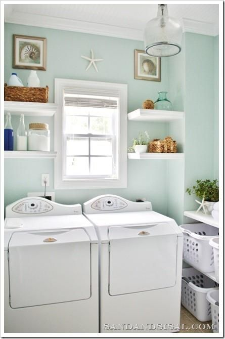 seafoam laundry room