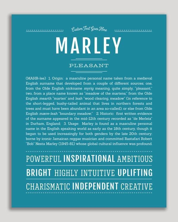 Marley (male) | Classic Name Print (With images) | Classic ...