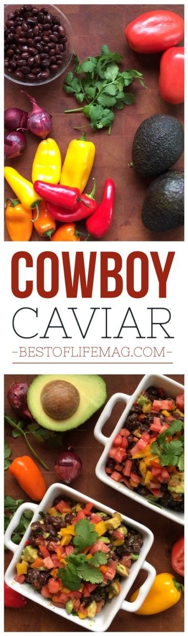 This Cowboy Caviar recipe is healthier than the rest AND it's beautiful! Tell me you don't want these colors and fresh ingredients on your table ;)