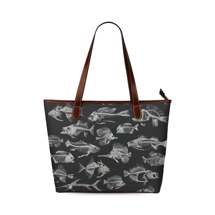 SKELETON FISH Shoulder Tote Bag (Model 1646) Designed by Krydy $ 40 #ootd #outfitoftheday #lookoftheday #TagsForLikes #TFLers #fashion #fashiongram #style #love #beautiful #currentlywearing #lookbook #wiwt #whatiwore #whatiworetoday #ootdshare #outfit #clothes #wiw #mylook #fashionista #todayimwearing #instastyle #TagsForLikesApp #instafashion #outfitpost #fashionpost #todaysoutfit #fashiondiaries #cristinaguggeri #krydy #sneakerfreak #sneakerporn #shoeporn #fashion #swag #instagood #fresh…