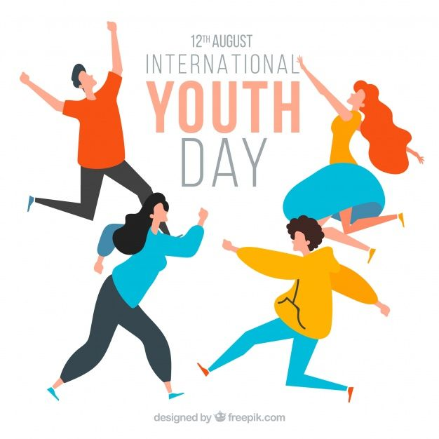 Download Youth Day Background With Happy People For Free Youth