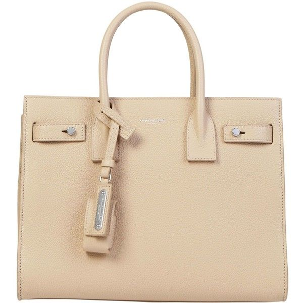Baby Sac De Jour Souple Tote Handbag ($2,190) ❤ liked on Polyvore featuring bags, handbags, tote bags, nude powder, man bag, beige leather tote, beige tote bag, genuine leather tote bags and handbags totes