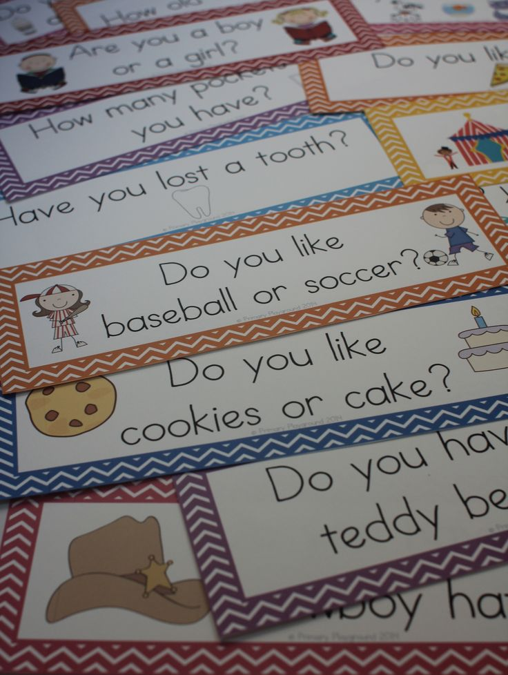 Help your beginning readers feel successful by using the unique questions of the day - they feature common sight words, making them easy to read!