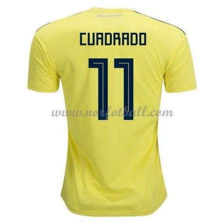 Billige Colombia Drakt VM 2018 Juan Cuadrado 11 Kortermet Hjemme Fotballdrakter