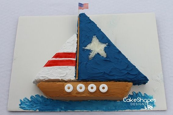 Sailboat Cake - could be made to look like a pirate ship, or whatever kind you like!