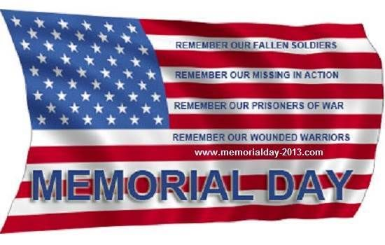free memorial day clip art flags