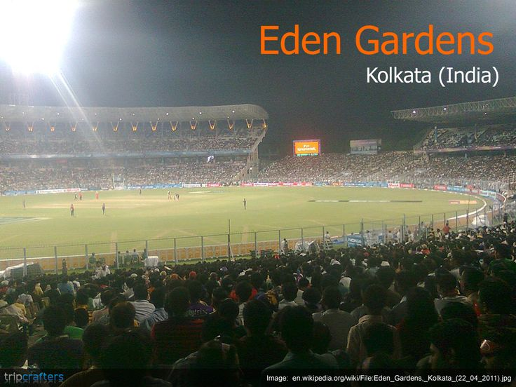 The Eden Gardens is the second biggest cricket stadium in the world with a seating capacity of 90,000 spectators. It was one of the first cricket stadiums in India to have floodlights and host day and night matches.  #Kolkata | #EdenGardens | #Cricket