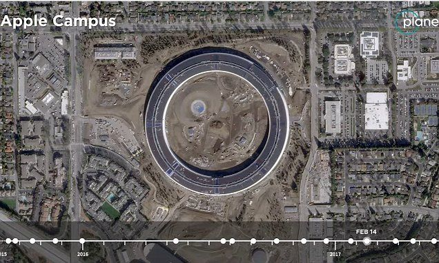 Timelapse shows Apple campus construction in 18 seconds | Daily Mail Online