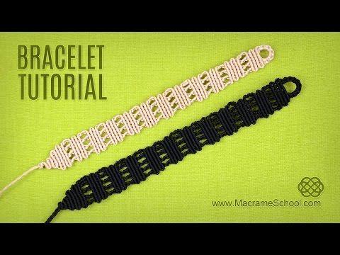 Pulsera de macramé fácil de hacer, instrucciones paso a paso en vídeo | Pulseras de Hilo | Todo para aprender a hacer pulseras de hilo con nudos