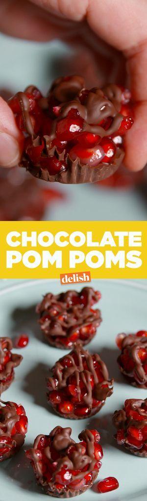 Chocolate Pom Poms  - Delish.com