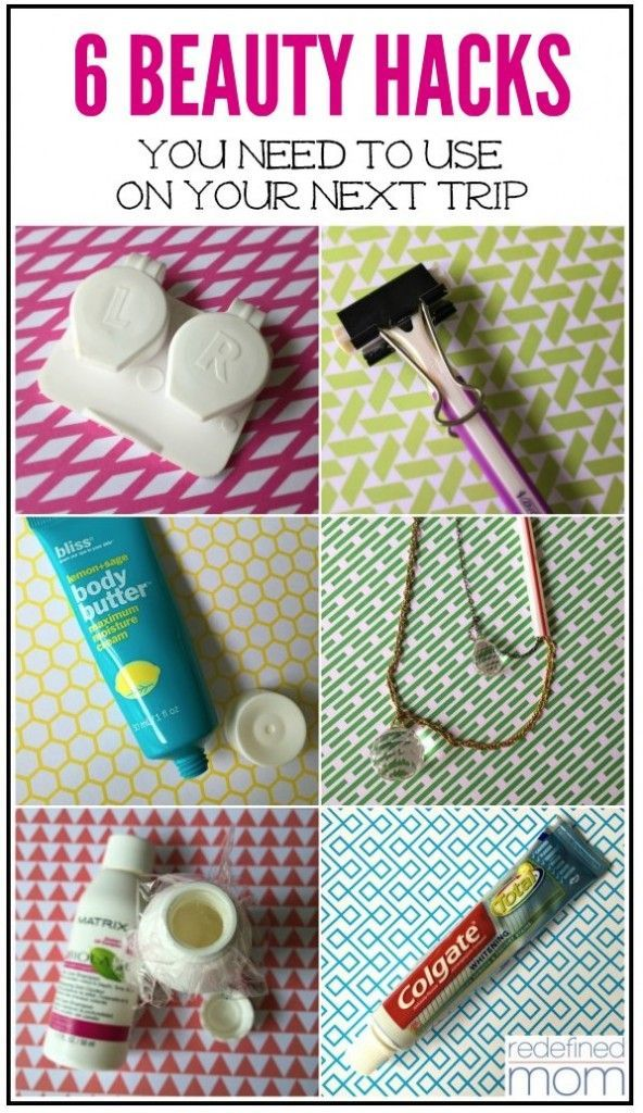 Going on vacation? You NEED these 6 Beauty Hacks That You Must Use on Your Next Trip ... you'll pack less stuff & look good while site seeing.