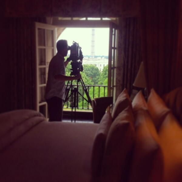 Getting a shot of the White House from the Hay Adams