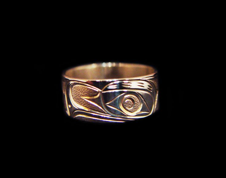 "Thunderbird Ring, Joe Decoteaux. Sterling silver, 0.38"". Northwest Coast First Nations Jewelry."