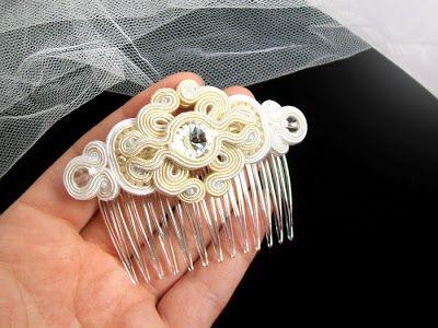 Biżuteria ślubna Eva - Sutasz (soutache) - Szalony projekt :)