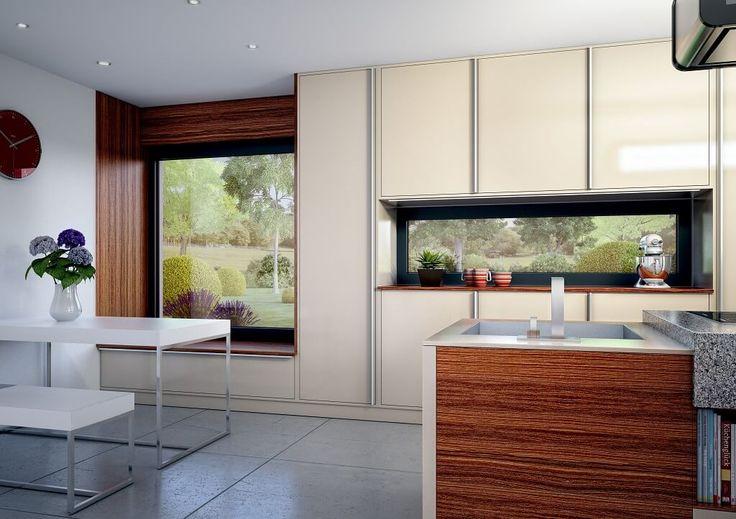 Innenraum Wohnzimmer - Haus Concept-M 152 Bien Zenker - moderner - theke für wohnzimmer