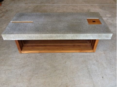 concrete and wood coffee table | coffee table | pinterest | wood