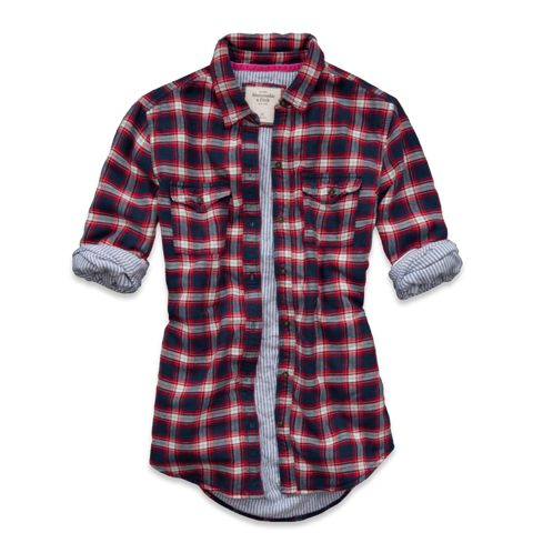 Womens Piper Quilted Flannel Shirt