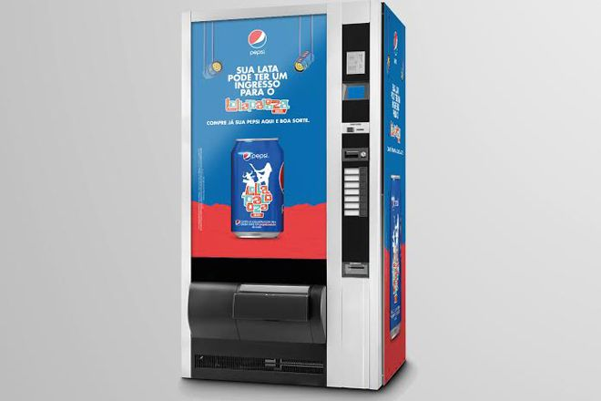 Vending machines de Pepsi distribuem 100 ingressos para o Lollapalooza - Blue Bus