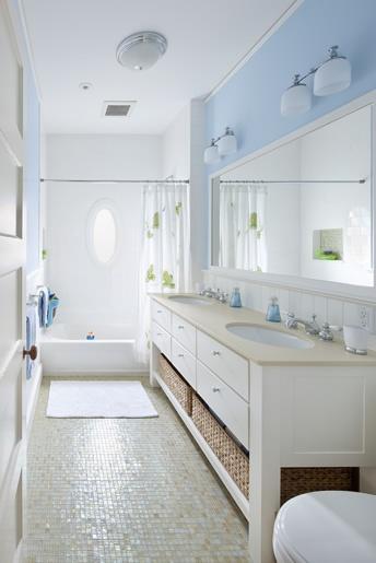 Smaller vanity idea for jack n jill bath bathrooms - Jack n jill bath ...