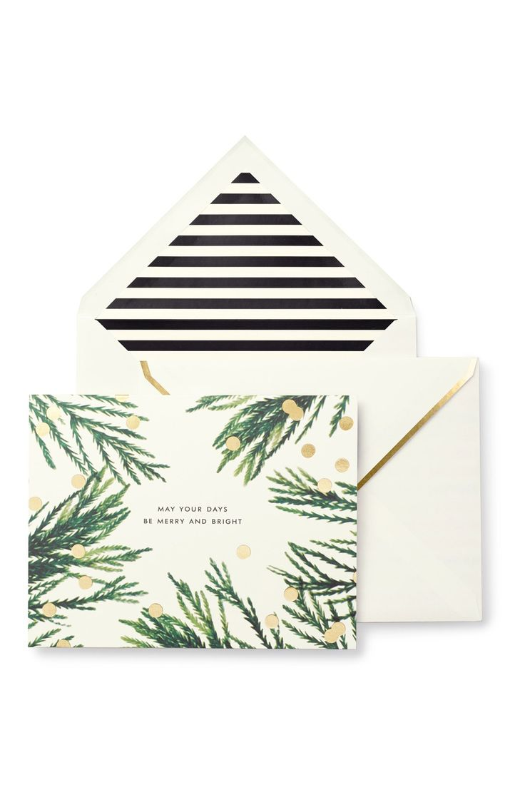 kate spade new york 'gold dot' holiday cards