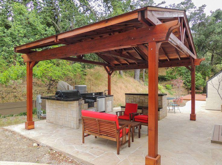 Del Norte Outdoor Kitchen Pavilion Options 18 L X 18
