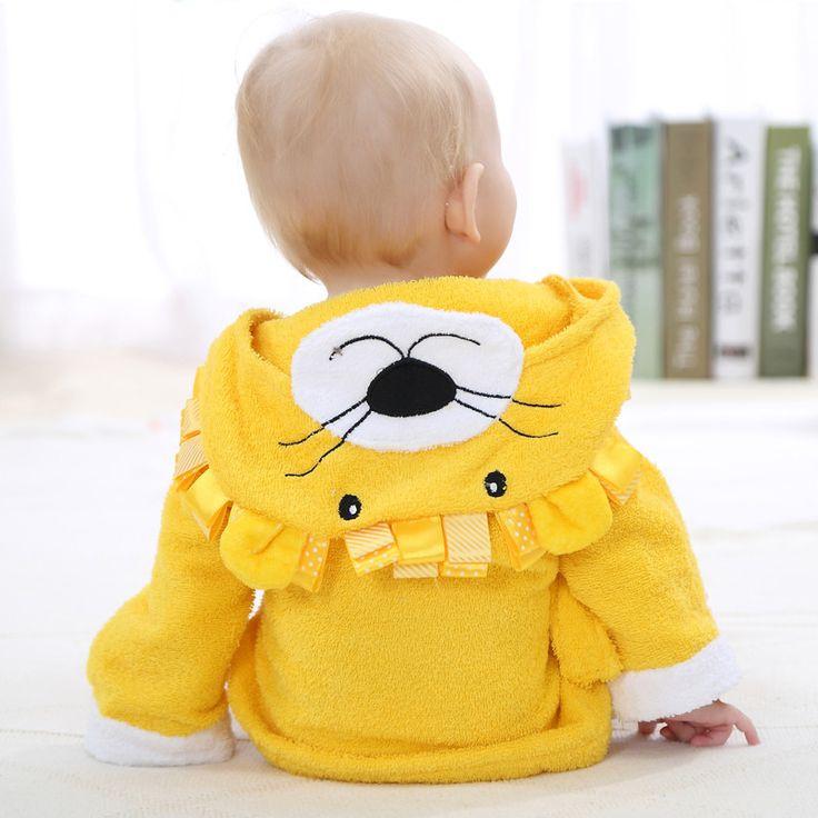 Cotton Towels Baby Hooded Bathrobe Bath Towel Bathing Robe Manteau For Newborn child Bathrobe Wrap New Cartoon Animal Bath Towel
