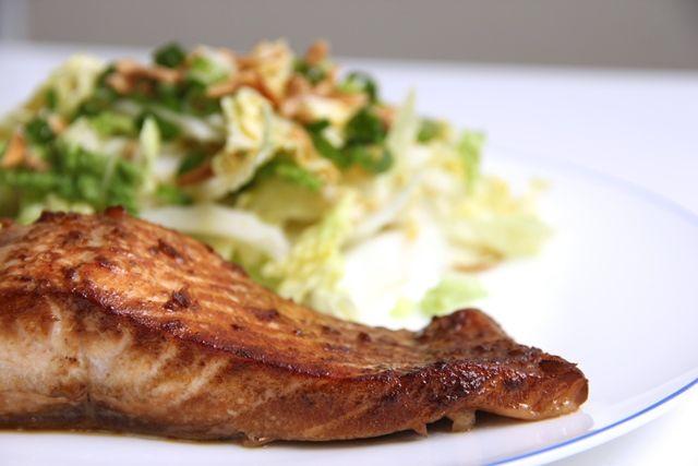 Salmon Teriyaki & Wombok Salad