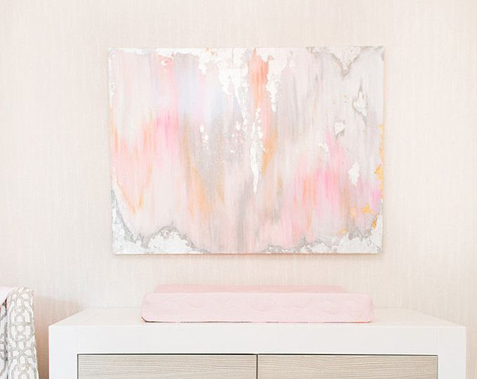 Pink Abstract Canvas Art: Sold!! Large Acrylic Abstract Art Large Canvas Painting