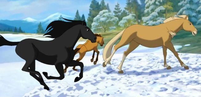 Spirit Strider And Esperanza Spirit The Horse Spirit And Rain Horse Animation