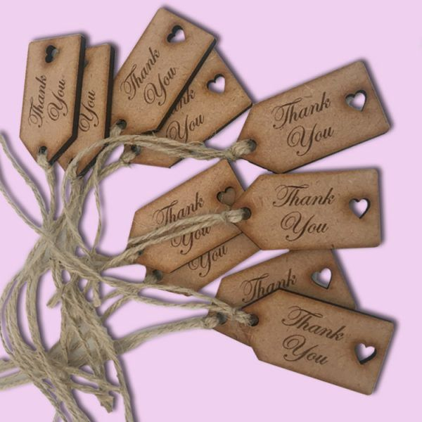 Wooden Thank you Tags