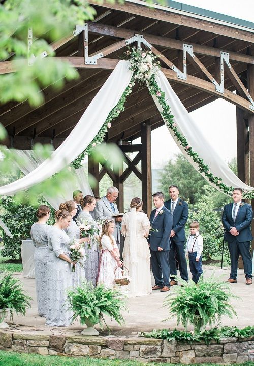 Outside wedding ceremony at Northern Fauquier Community Park in Marshall