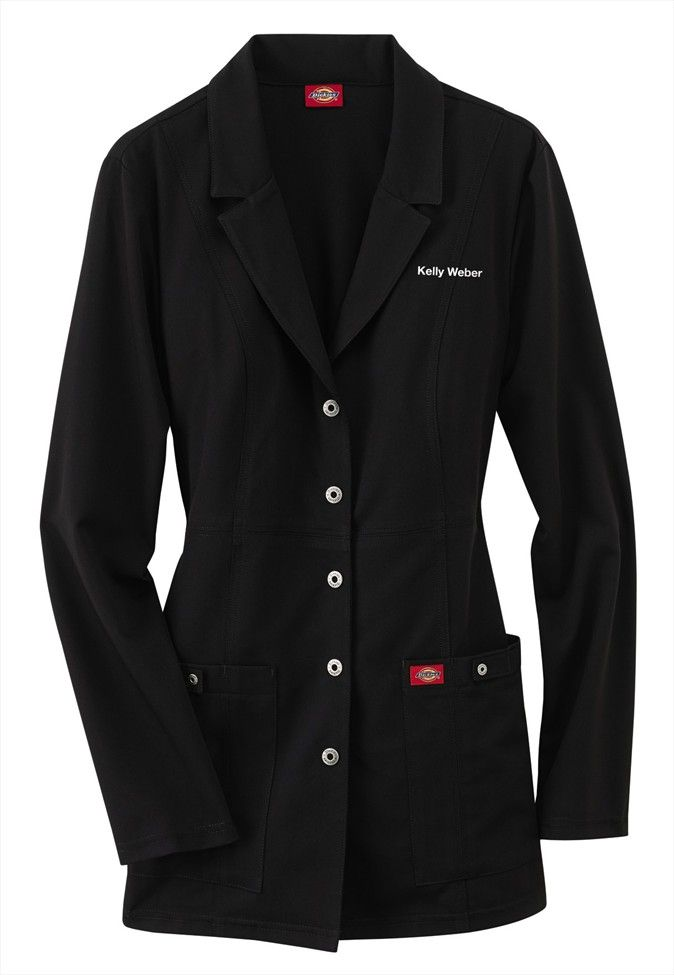 Dickies Xtreme Stretch Snap Front Lab Coat Tools Of The