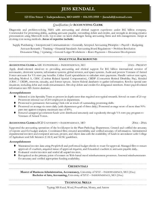 12 Accounting Resume Objective | Riez Sample Resumes