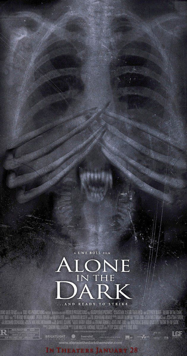 Directed by Uwe Boll.  With Christian Slater, Tara Reid, Stephen Dorff, Frank C. Turner. Based on the video game, Alone in the Dark focuses on Edward Carnby, a detective of the paranormal, who slowly unravels mysterious events with deadly results.