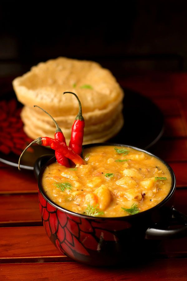 Poori Masala Recipe which is a South Indian version. You require basic ingredient's to make this recipe. We make and eat different types of aloo.