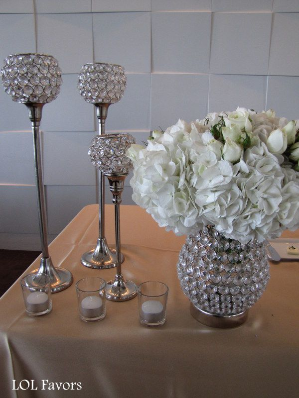 Hollywood Glam With Jewel Tone Wedding Theme Centerpieces
