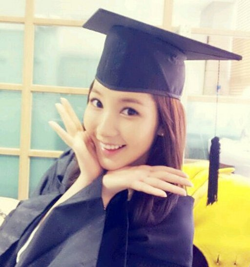 Park Min Young looks happy wearing her Graduation gown