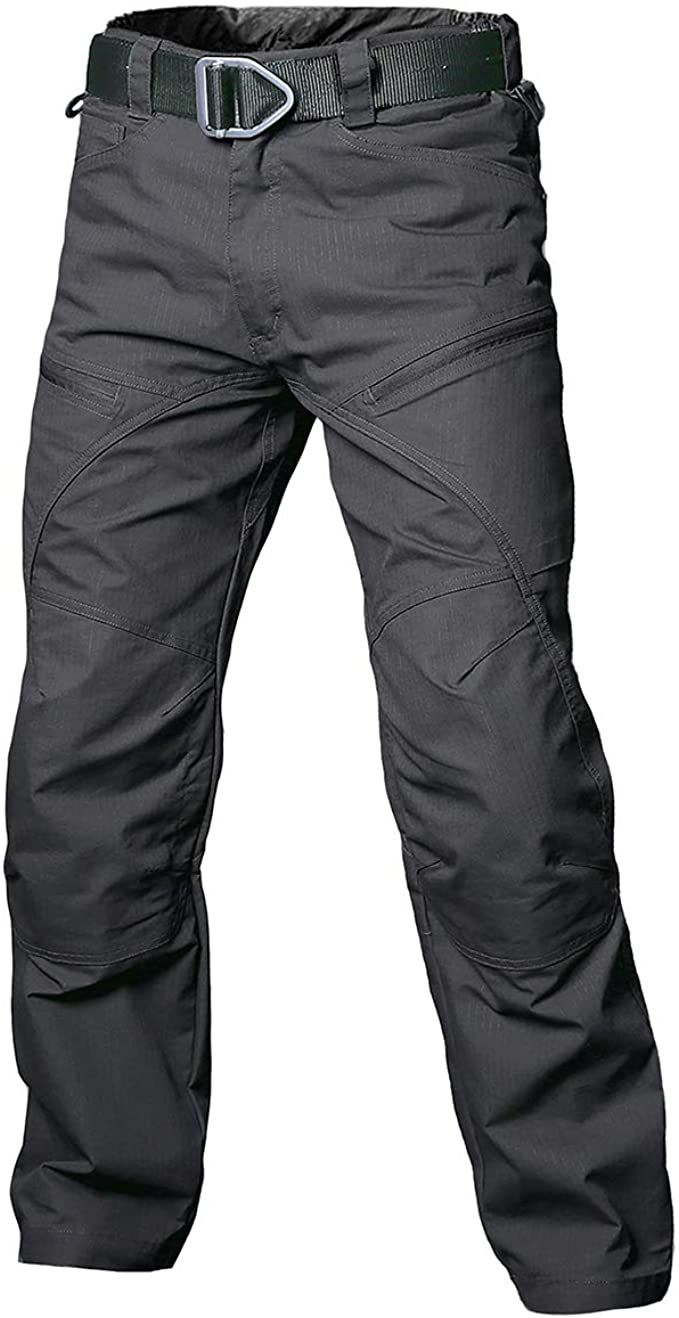 Mens Urban Work Army Combat Cargo Training Trousers Pockets Straight Leg Pants