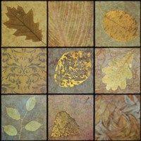 Framed Golden Leaves Nine-Square