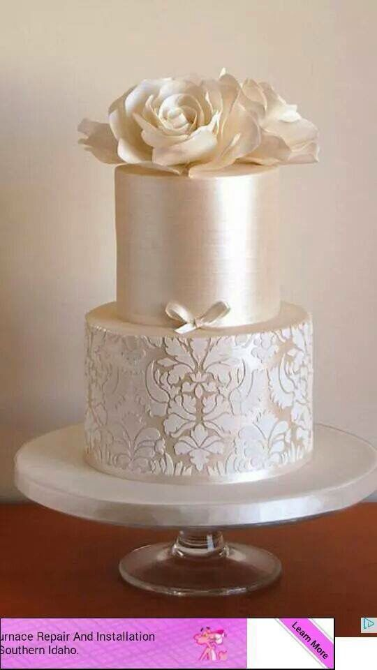 how to make a two tiered wedding cake stunning pearlised cake wedding imagenes 15877